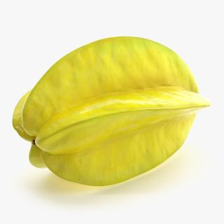 Star Fruit Or Carambola Fruit 3D model