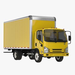 3D Box Truck Generic Simple Interior model