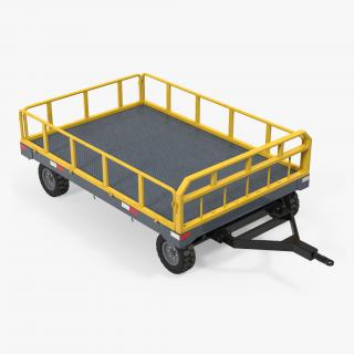 Airport Luggage Trolley Baggage Trailer 3D model