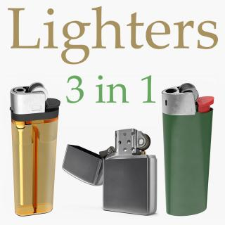 Lighters Collection 3D model