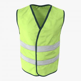 3D Yellow High Visibility Safety Jacket