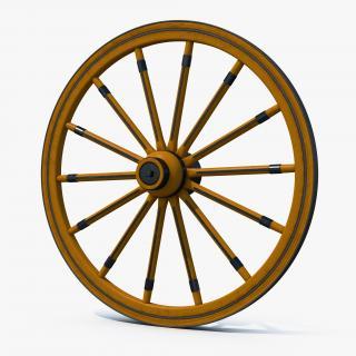 Antique Wagon Wheel 3D model
