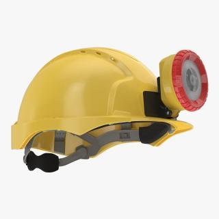 Mining Helmet with Light 3D model
