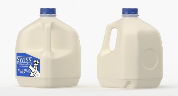 3D Milk Gallon Plastic Jug model
