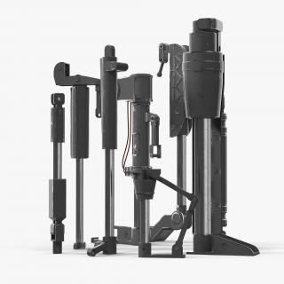 3D Sci-Fi Painted Hydraulic Cylinders Set model