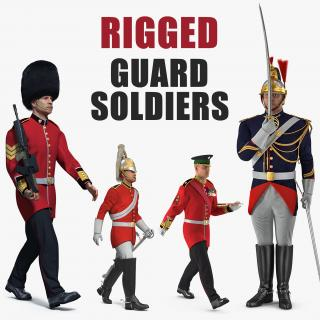 Rigged Guard Soldiers Collection 3D