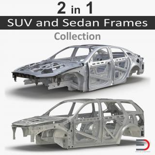 3D SUV and Sedan Frames Collection