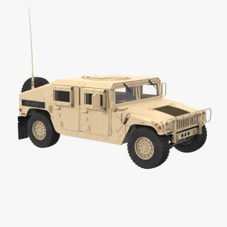 3D model Humvee M1151 Simple Interior Desert