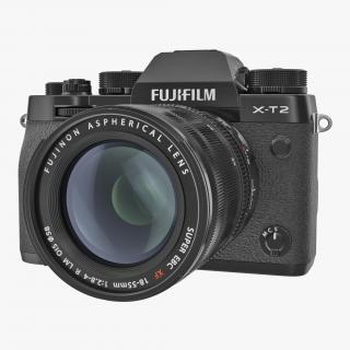 3D model Mirrorless Digital Camera Fuji X-T2