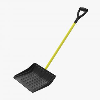 3D Yellow Snow Shovel model