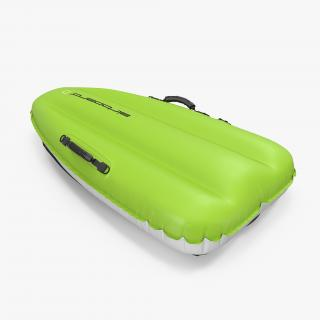 3D Inflatable Sled Green