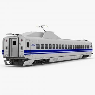 Bullet Train JR700 Passenger Car Japan Railways 3D