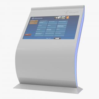 Multi Touch Screen Kiosk For Lobby 3D model