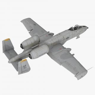 Attack Aircraft A-10 Thunderbolt II Rigged 3D