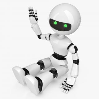 3D White Robot