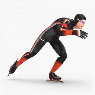 Speed Skater Generic 2 Pose 2 3D model
