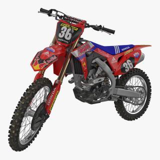 3D model Motocross Bike Honda CRF250R 2018 Rigged