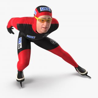Speed Skater Rigged 3D model