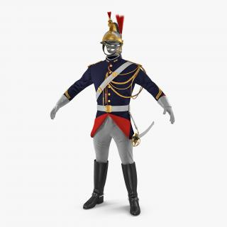 3D French Republican Guard Uniform