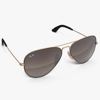 Sunglasses Ray Ban Aviator Brown 3D