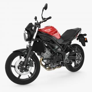 3D model Sport Bike Suzuki SV650 2016 Rigged