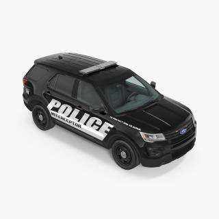 Ford Police Interceptor Unit 2016 Simple Interior 3D model