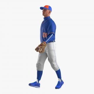 Baseball Player Rigged Generic 4 3D