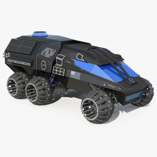 NASA Futuristic Mars Rover Concept 3D model