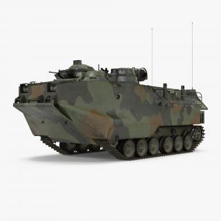 3D model Landing Tracked Vehicle AAV-P7