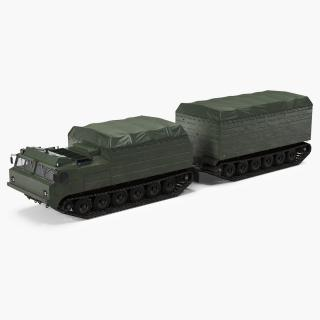 3D Articulated Tracked Vehicle Vityaz DT 30 ATV Rigged
