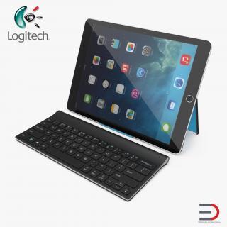 3D Logitech Tablet Keyboard with iPad Pro model