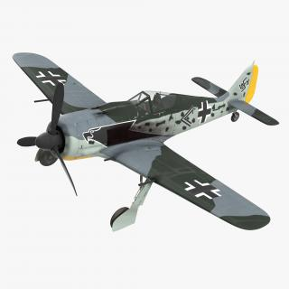 3D model German WWII Fighter Aircraft FW 190