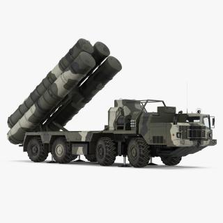 SA-10 Grumble or S-300 Russian Missile System Rigged 3D