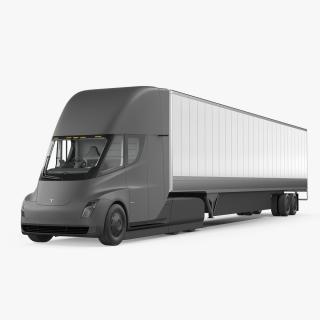 Tesla Semi Truck with Trailer 3D model