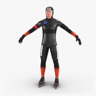 Speed Skater 2 3D model