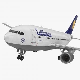 3D model Airbus A310-300 Lufthansa