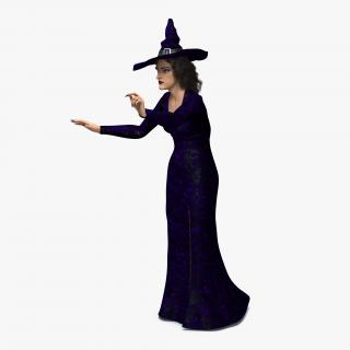 3D Witch Woman Rigged model