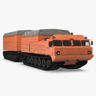 Multi Purpose Articulated Tracked Vehicle Vityaz DT 30 3D model