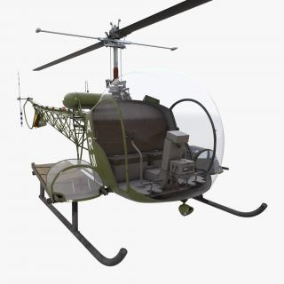 Bell H 13 Sioux United States Army 3D model