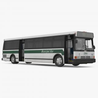 Flxible Metro D Transit Bus Rigged 3D model