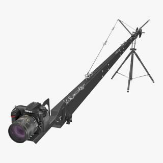 Nikon D500 on Professional Camera Crane 3D model