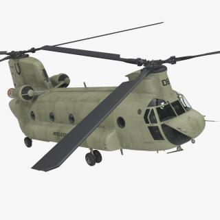 US Army Transport Helicopter CH-47 Chinook 3D
