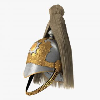 British Life Guard Cavalry Helmet with Fur 3D