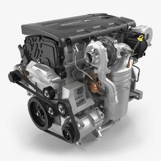 3D model Turbo Diesel Engine Chevrolet Cruze