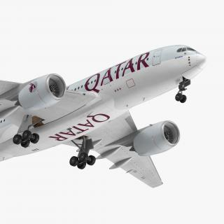 Airbus A350-800 Qatar Rigged 3D Model 3D