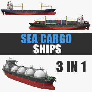 3D Sea Cargo Ships Collection