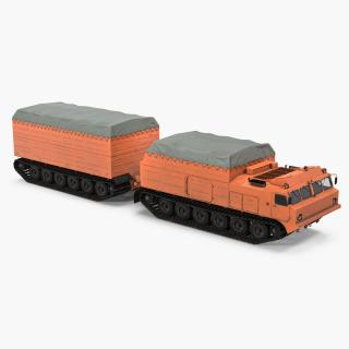 Multi Purpose Articulated Tracked Vehicle Vityaz DT-30 3D model