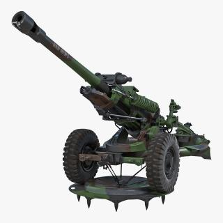 Light Field Howitzer M119 Rigged 3D