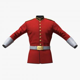 3D British Cavalry Life Guard Jacket model