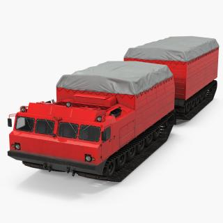 Research Articulated Tracked Vehicle Vityaz DT-30 3D model